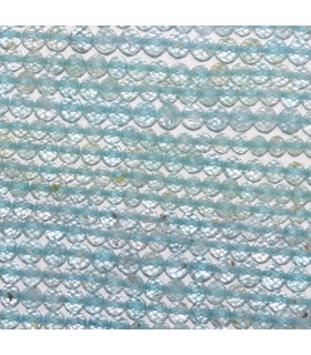Blue Topaz Faceted Round Beads 3.5-4mm.-Strand 33cm.-Item.9895