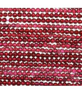 Garnet Faceted Round Beads 3mm.-Strand 40cm.-Item.9905