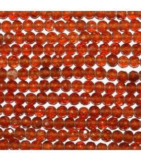 Granate Hesonita Bola Facetada 3.5mm.-Hilo 40cm.-Ref.9908