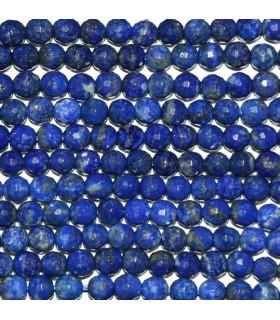 Lapis Lazuli Faceted Round Beads 5mm.-Strand 40cm.-Item.9914