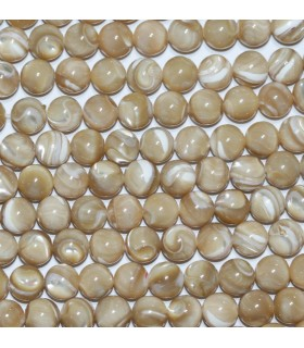 Brown MOP Round Beads 8mm.-Strand 40cm.-Item.9975