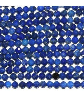 Lapis Lazuli Faceted Round Beads 3mm.-Strand 40cm.-Item.9998
