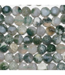 Moss Agate Faceted Round Beads 8mm.-Strand 39cm.-Item.10028