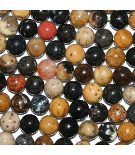 Xilopalo Round Beads 8-9mm.-Strand 40cm.-Item.10034