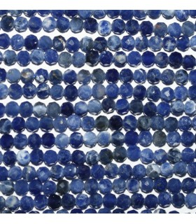 Sodalite Faceted Round Beads 3mm.-Strand 39cm.-Item.10085