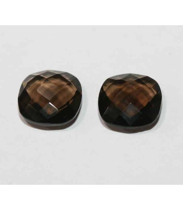 Smoky Quartz Cushion Briolette cut 10mm Item.114PE