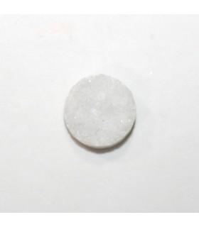 Cabujón Agata Druzzy redondo 14 mm. (6 piezas). -Ref: 502CB