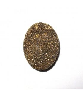 Cabujón Agata Druzzy Oval 40x30 mm. (2 piezas).- Ref: 543CB