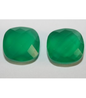 Green Onix Cushion Briolette cut 10mm Item.117PE