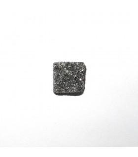 Druzy Agate Square Cabochon 12 mm. (6 pcs.).- Item: 504CB