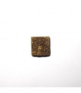 Cabujón Agata Druzzy Cuadrado 12 mm. (6 piezas).- Ref: 505CB