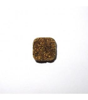 Druzy Agate Square Cabochon 12 mm. (6 pcs.).- Item: 506CB