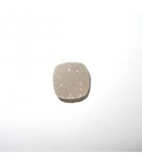 Cabujón Agata Druzzy Cuadrado Natural 12 mm. (4 piezas).- Ref: 524CB