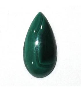 Cabujón Malaquita Gota 7x14 mm. (6 piezas).- Ref: 863CB