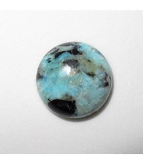 Turquoise Round Cabachon 14mm. (4 pcs.).- Ref: 957CB