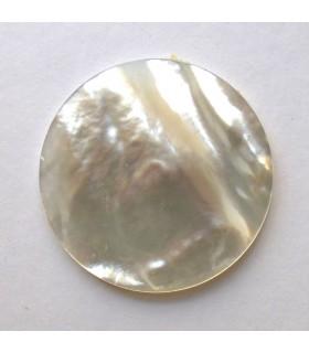 MOP Round Flat Pendant 40 mm. (2 pcs.).- Item: 854CB