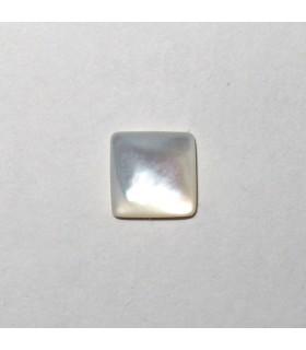 Cabujón Nacar Cuadrado 6 mm. (16 piezas).- Ref: 924CB