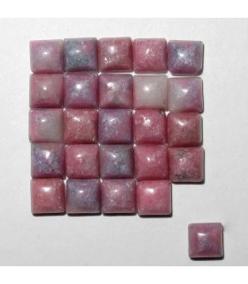 Rhodonite Square Cabochon 3 mm. (25 pcs.).- Item: 910CB