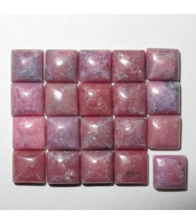 Rhodonite Square Cabochon 5 mm. (20 pcs.).- Item: 912CB