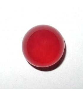 Cabujon Calcedonia Rojo Redondo 12 mm. (6 piezas).- Ref: 998CB