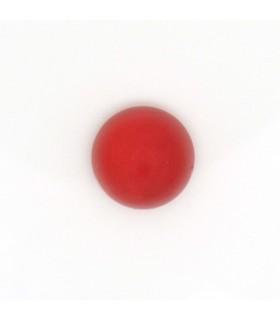 Cabujon Calcedonia Rojo Redondo 10 mm. (6 piezas).- Ref: 999CB