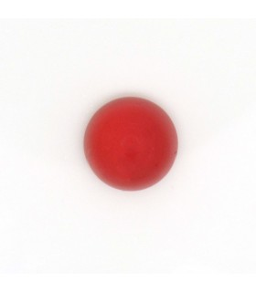 Red Calchedony Round Cabochon 10 mm. (6 pcs.). -Item: 999CB