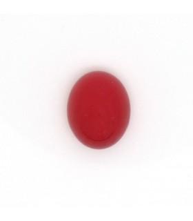 Cabujon Calcedonia Rojo Oval 10x8 mm. (6 piezas).- Ref: 1000CB