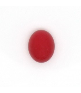 Red Calchedony Oval Cabochon 10x8 mm. (6 pcs.).- Item: 1000CB