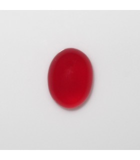 Red Calchedony Oval Cabochon 8x6 mm. (6 pcs.).- Item: 1001CB