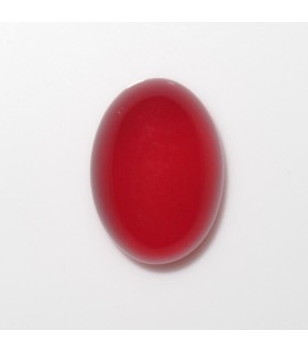 Red Calchedony Oval Cabochon 14x10 mm. (4 pcs.).- Item: 1002CB