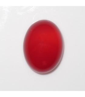 Cabujon Calcedonia Rojo Oval 16x12 mm. (4 piezas).- Ref: 1003CB