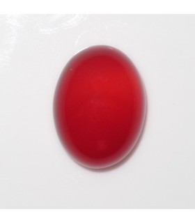 Red Calchedony Oval Cabochon 16x12 mm. (4 pcs.).- Item: 1003CB