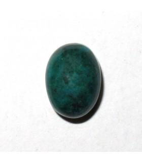 Cabujón Crisocola Oval Liso 8x6 mm (12 Piezas ). -Ref: 2739