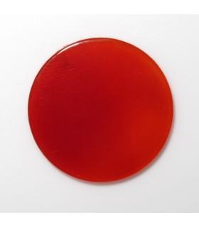 Disco Carneola Redondo Plano 18 mm. (4 piezas).- Ref: 849CB