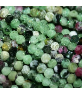 Ruby Zoisite Faceted Rondelle 2x1.5mm.-Strand 40cm.-Item.10135