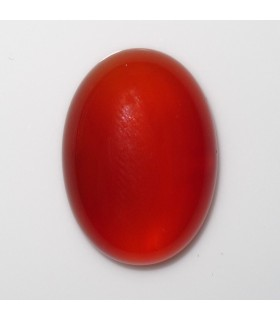 Carnelian Oval Cabochon 18x13 mm. (6 pcs.).- Item: 901CB