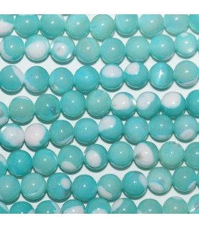 Blue MOP Round Beads 6mm.-Strand 40cm.-Item.10144