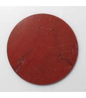 Red Jasper Round Disk Flat 25 mm. (4 pcs.).- Item: 963CB