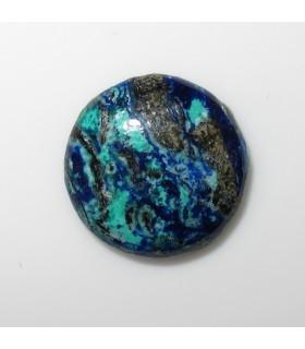 Azurite Round Cabochon 12 mm. (5 pcs.).- Item: 515CB