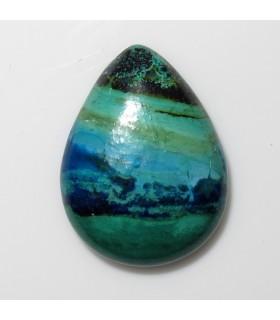 Azurite Drop Cabochon 18x13 mm. (6 pcs.).- Item: 518CB