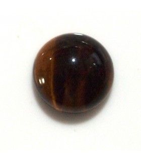 Cabujon Ojo de Tigre Redondo 10 mm. (8 piezas).- Ref: 618CB