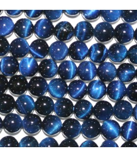 Blue Tiger Eye Round Beads 6mm.-Strand 39cm.-Item.10155