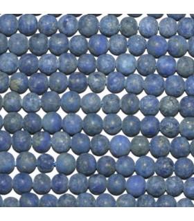 Lapis Lazuli Matte Finish Round Beads 4mm.-Strand 39cm.-Item.10156