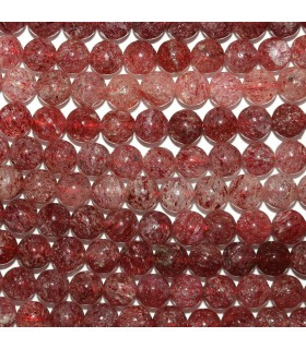 Cherry Quartz Round Beads 6mm.-Strand 40cm.-Item.10163