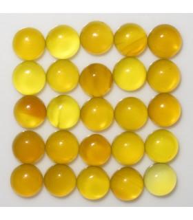 Yellow Agate Round Cabochon 4 mm. (25 pcs.).- Item: 884CB