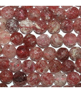 Cherry Quartz Faceted Round 5-6mm.-Strand 40cm.-Item.10164