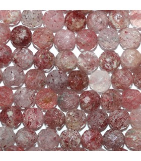 Cherry Quartz Faceted Round 7-8mm.-Strand 40cm.-Item.10165