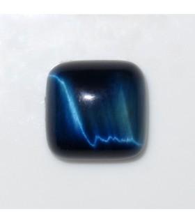 Cabujon Ojo de Tigre Azul Cuadrado 10 mm. (6 piezas).- Ref: 986CB
