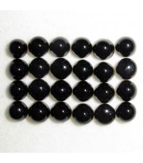 Cabujon Onix Redondo 4 mm. (24 piezas).- Ref: 888CB
