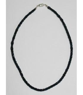 Collar Espinela Azul Bola Facetada 2mm.-Largo 45cm.( 4 Hilos )-Ref.10182